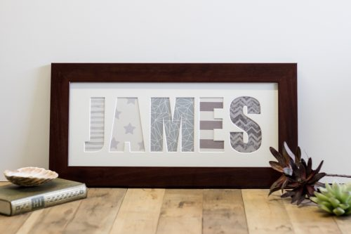 Wide Flat Walnut Name Frame