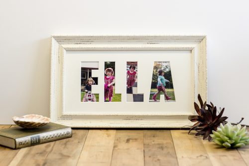 Shabby White Name Frame