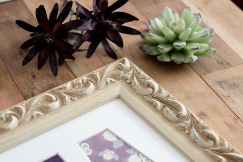 Fleur White Name Frame