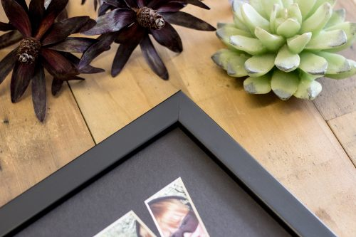 Small Flat Black Name Frame