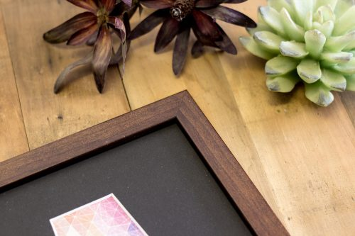 Small Flat Walnut Name Frame