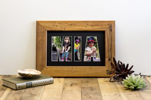 Recycled Rimu Name frame